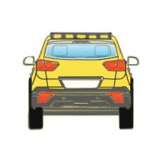 Стекло Заднее, Зеленое теплозащитное, Внедорожник, с антенной для радио - FUYAO на BMW X5 (2013-2018) | 2473BGSRA-FU
