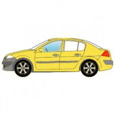 Стекло Боковое левое, Переднее дверное, Зеленое теплозащитное, Седан 4-дв., с молдингом или фиксатором, с логотипом = 4001LGSS4FDW1M - XINYI на Acura RL (2005-2012) | 39A8LGSS4FDW1M-XI