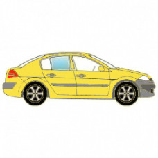 BMW 1 SERIES СД ХБ 2004- СТЕКЛО ФОРТОЧКА ЗАДНЕЕ НЕПОДВИЖНОЕ ПРАВОЕ Зеленое | 4038953