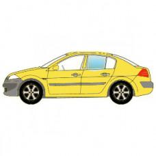BMW X5 (E70) 2006- СТЕКЛО ЗАДНЕЙ ДВЕРИ ОПУСКНОЕ ЛЕВОЕ Зеленое | 4025712