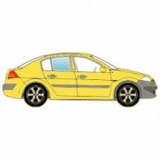 BMW 1 SERIES СД ХБ 2004- СТЕКЛО ФОРТОЧКА ЗАДНЕЕ НЕПОДВИЖНОЕ ПРАВОЕ Зеленое | 4039058